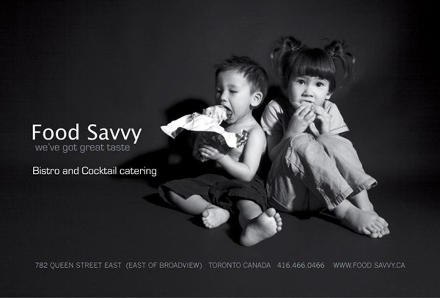 FOOD SAVVY print ad